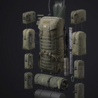 Savotta Jääkäri XL Vert PACK Personnalisable