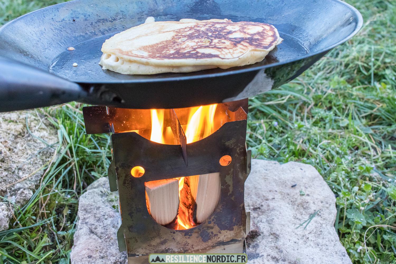 Pancake réchaud à bois savotta
