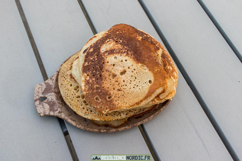 Pancake en bouteille résultat