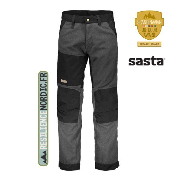 SASTA - Pantalon Kaarna - Laine Sarka - Gris anthracite