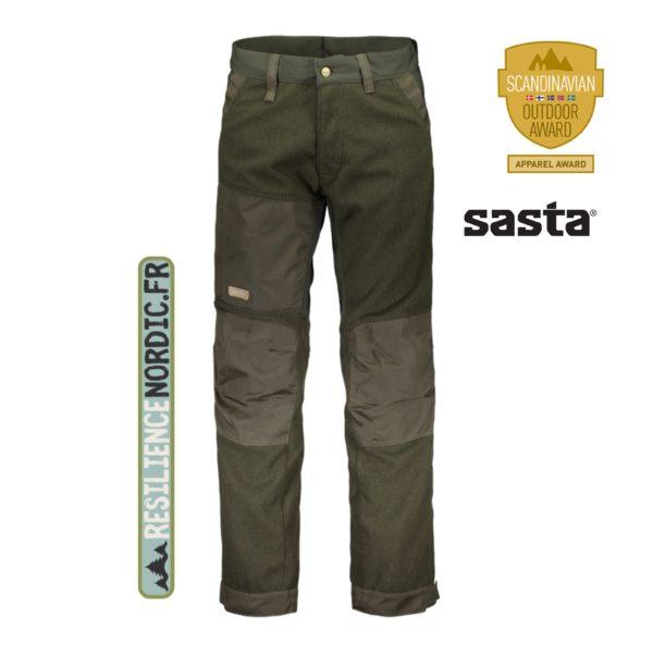 SASTA - Pantalon Kaarna - Laine Sarka - Olive foncé
