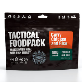 Tactical FoodPack - Curry de Poulet et Riz - 100g