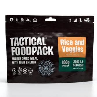 Tactical FoodPack - Riz et Légumes - 100g